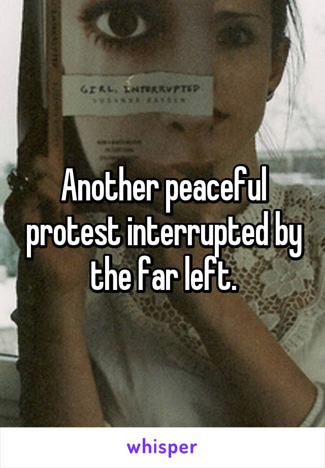 Another peaceful protest interrupted by the far left.