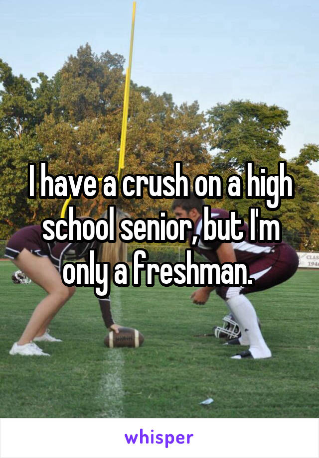 I have a crush on a high school senior, but I'm only a freshman.