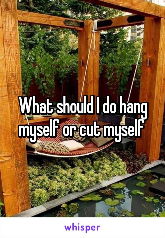 What should I do hang myself or cut myself