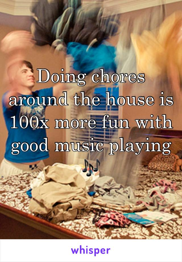 Doing chores around the house is 100x more fun with good music playing 🎶