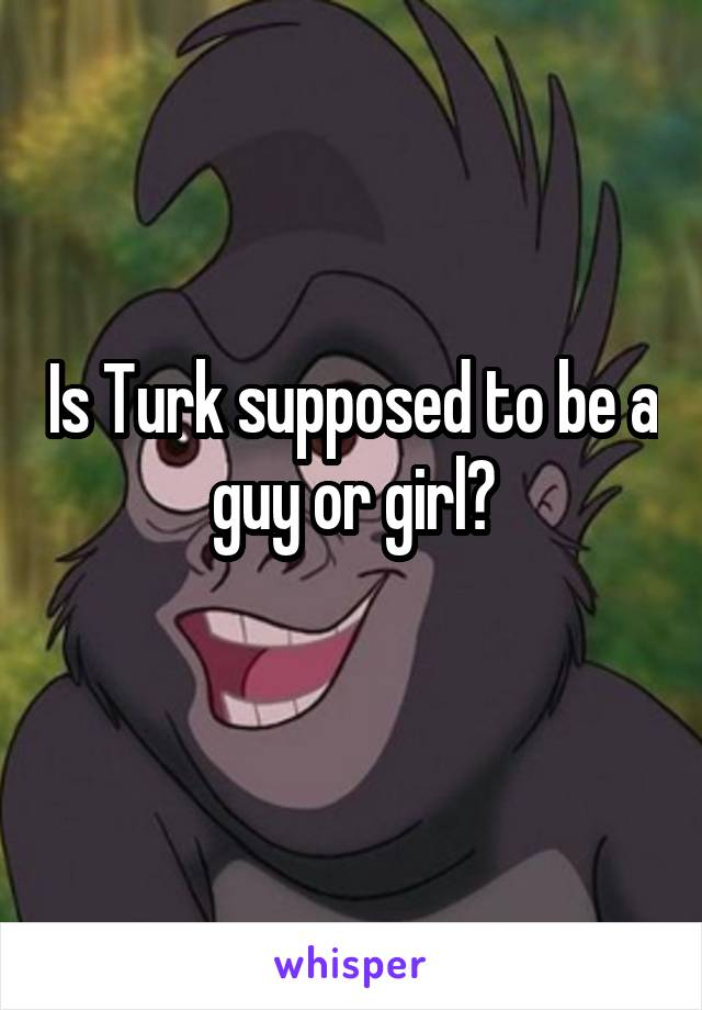 Is Turk supposed to be a guy or girl?