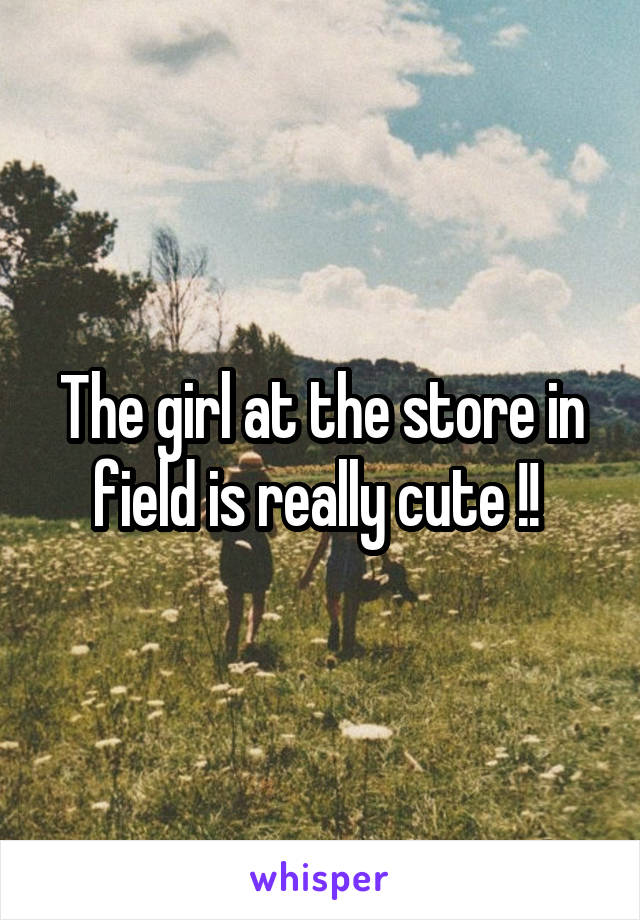 The girl at the store in field is really cute !!