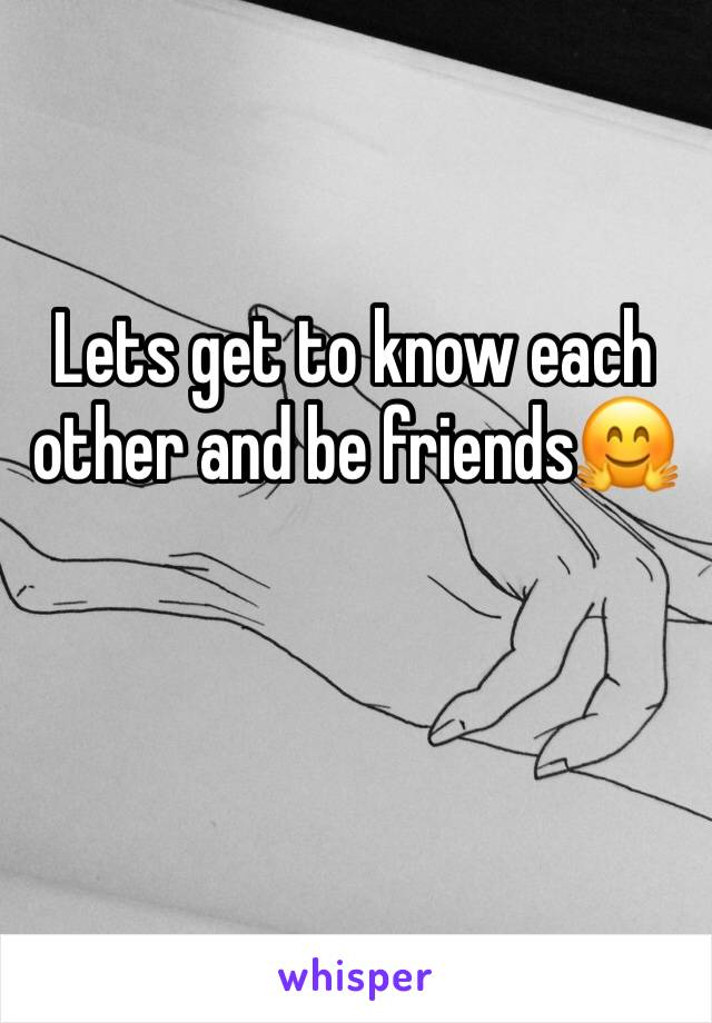 Lets get to know each other and be friends🤗