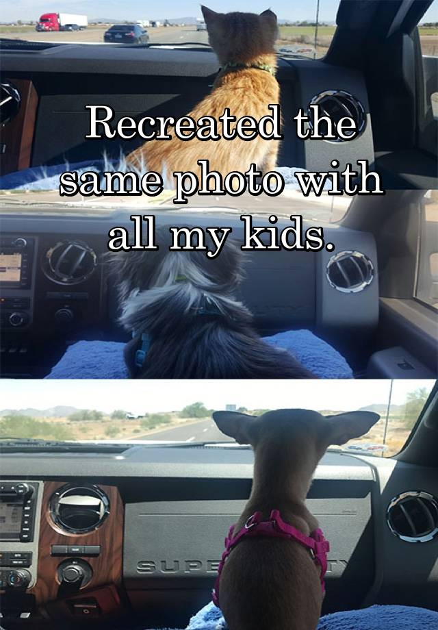 Recreated the same photo with all my kids.