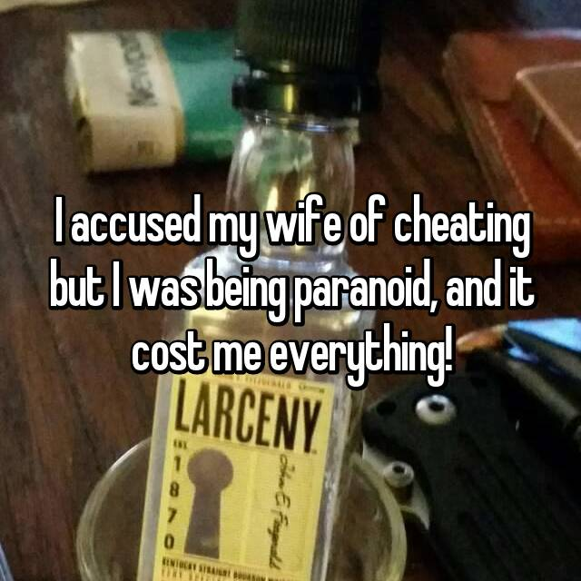 I accused my wife of cheating but I was being paranoid, and it cost me everything!