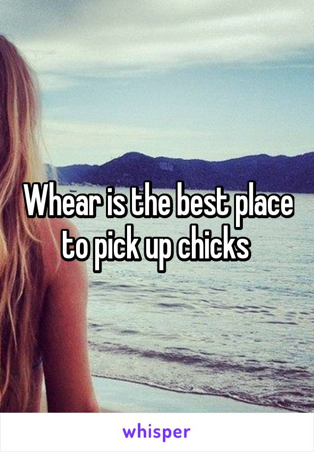 Whear is the best place to pick up chicks
