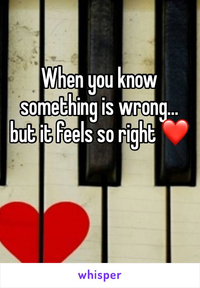 When you know something is wrong... but it feels so right ❤️
