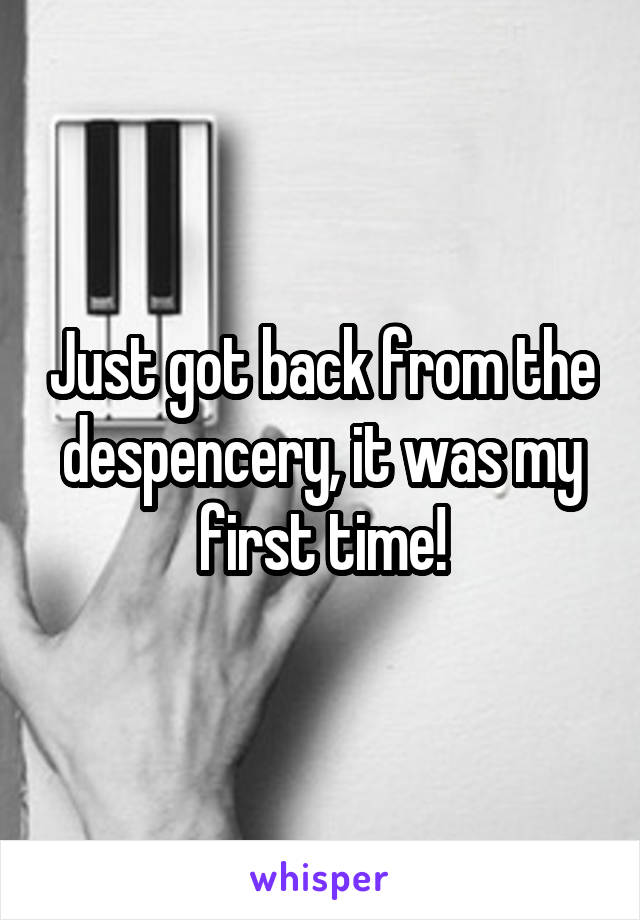 Just got back from the despencery, it was my first time!